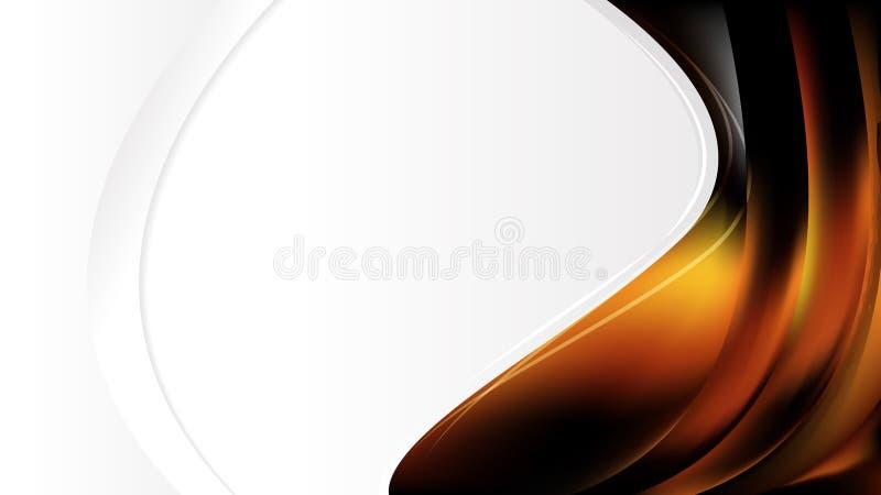 Шаблон оформления оранжевых и черных брошюр иллюстрация штока