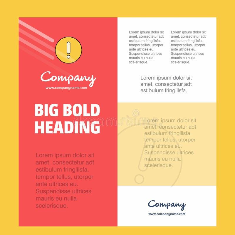 Шаблон плаката деловой компании ошибки с местом для текста и изображений Предпосылка вектора бесплатная иллюстрация