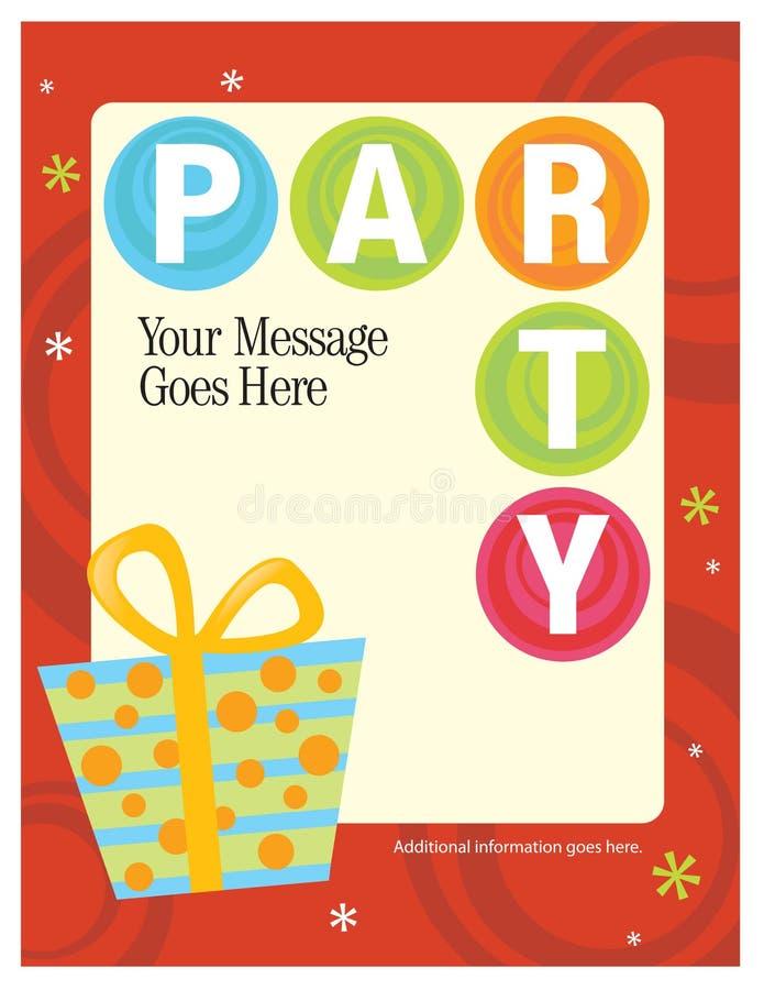 шаблон плаката партии рогульки 5x11 8 иллюстрация вектора