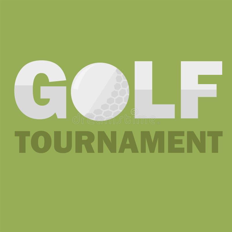 Шаблон плаката турнира гольфа Конструкция рогульки также вектор иллюстрации притяжки corel иллюстрация вектора