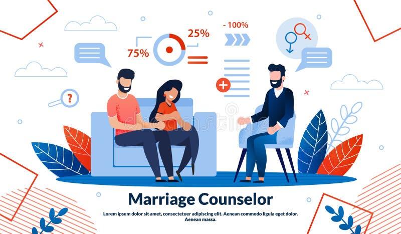 Шаблон плакатов Flat Vector Family Psychology иллюстрация штока