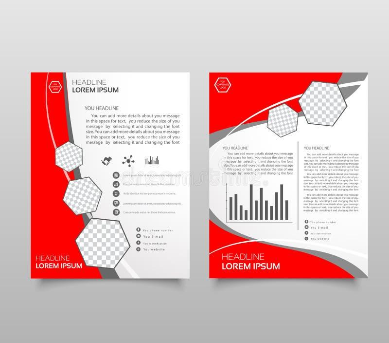Шаблон плана брошюры, предпосылка дизайна крышки, годовой отчет иллюстрация штока