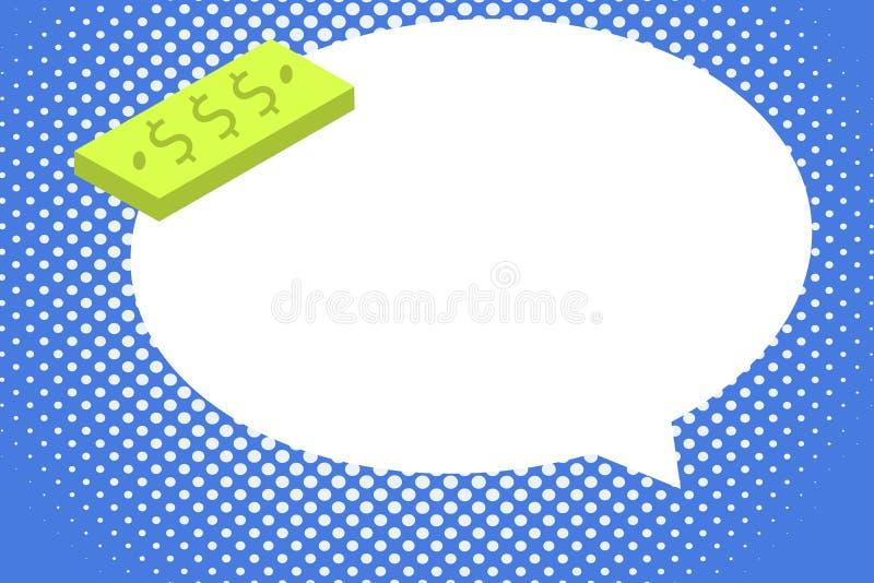 Шаблон плоской иллюстрации вектора дела дизайна пустой для плана для блока ваучера плаката продвижения поздравительной открытки п иллюстрация вектора