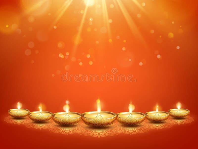 Шаблон поздравительной открытки фестиваля огней счастливого diwali индусский Праздник Индии 10 eps иллюстрация вектора