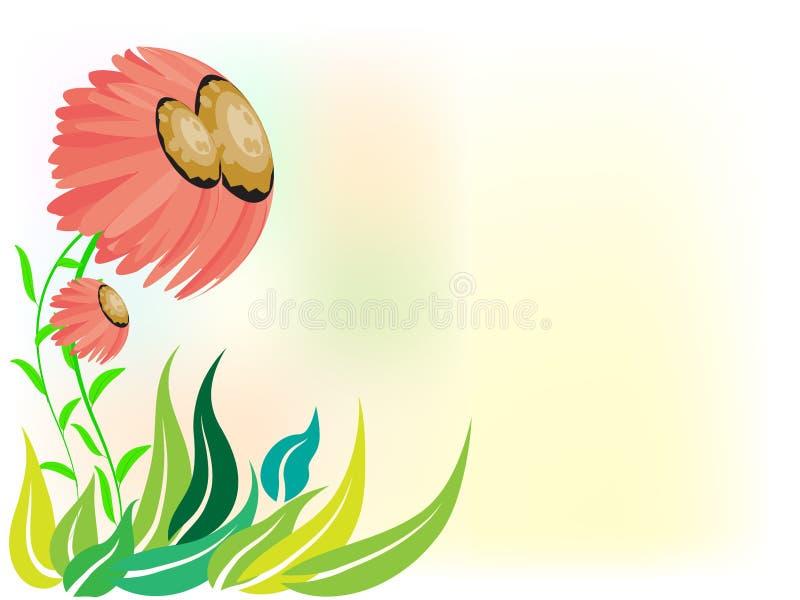 Шаблон предпосылки изображения рамки цветков иллюстрация штока