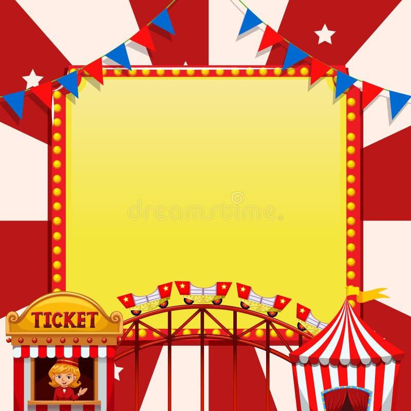 Шаблон примечания цирка бесплатная иллюстрация