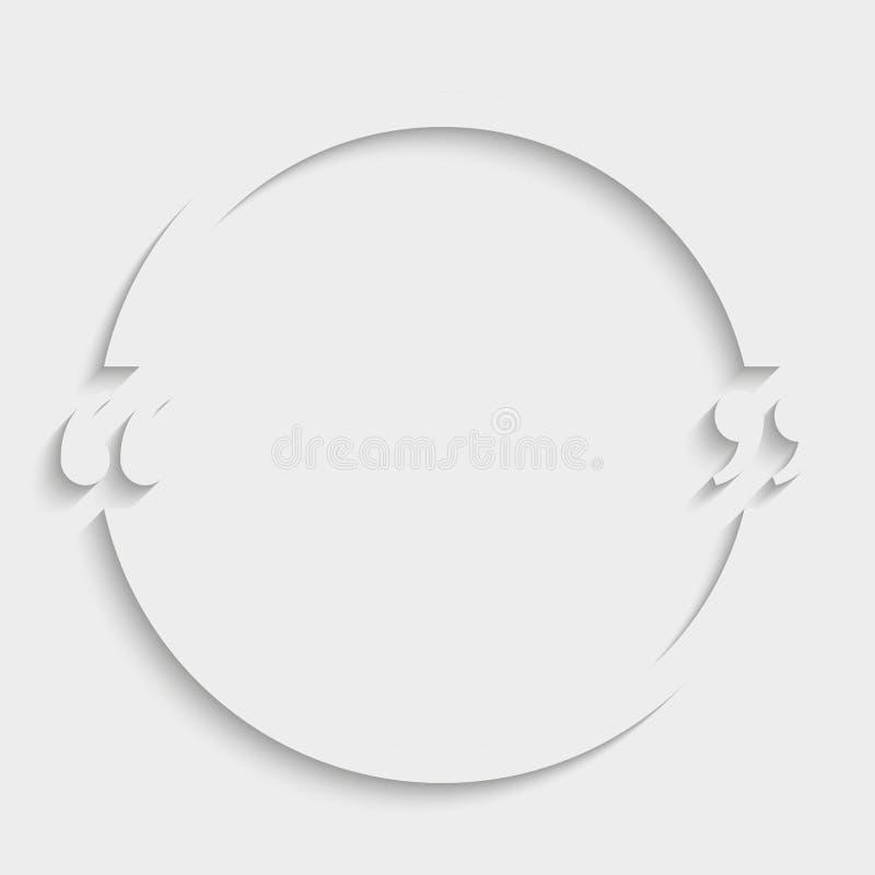 Шаблон пробела круга цитаты вектора прицветников иллюстрация вектора