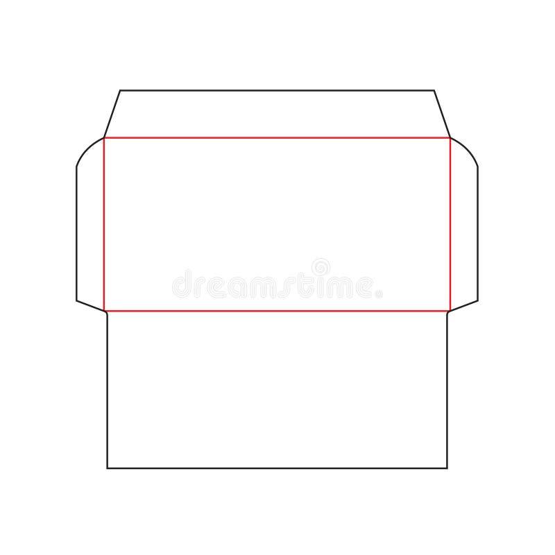 Шаблон размера DL конверта бесплатная иллюстрация