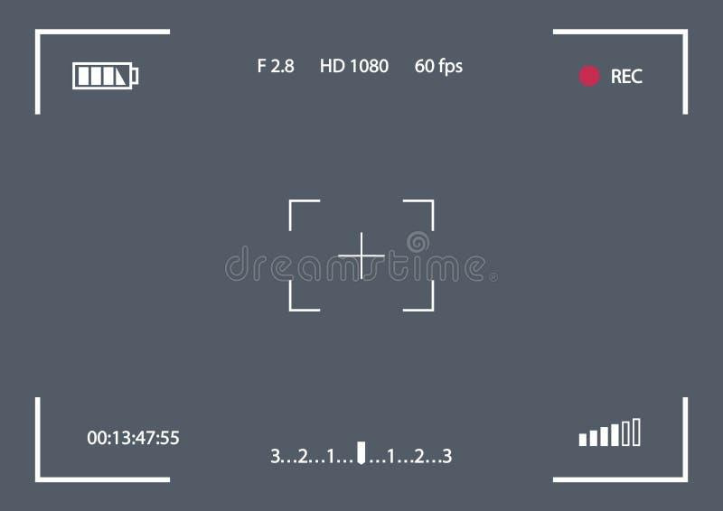 Шаблон рамки показателя вектора для камеры иллюстрация вектора