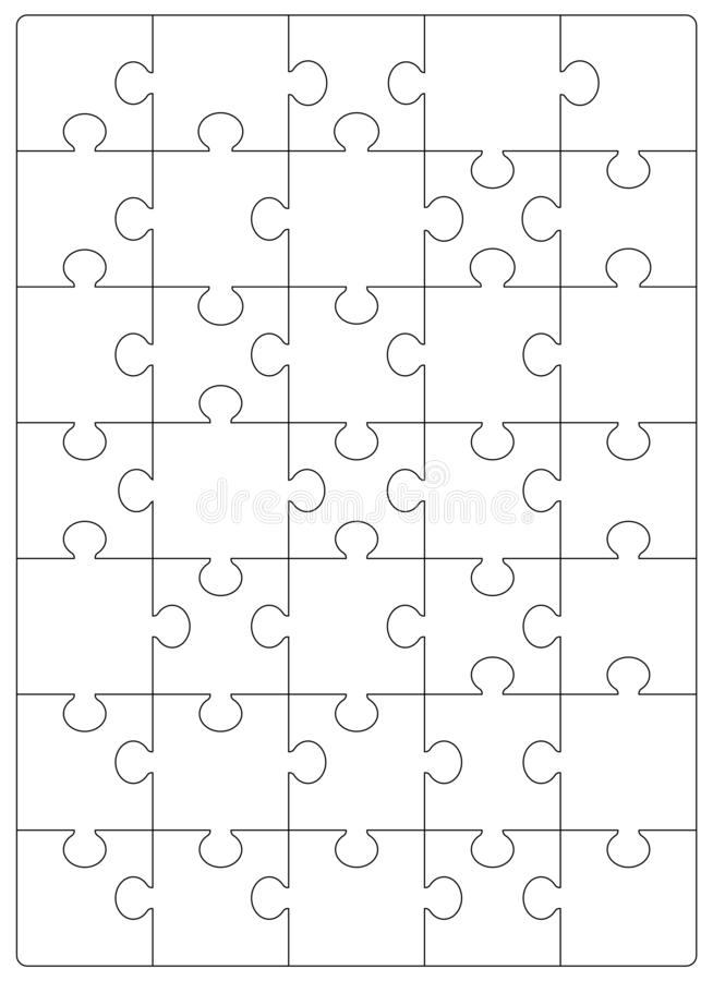 Шаблон решетки головоломок Мозаика 24 части иллюстрация штока