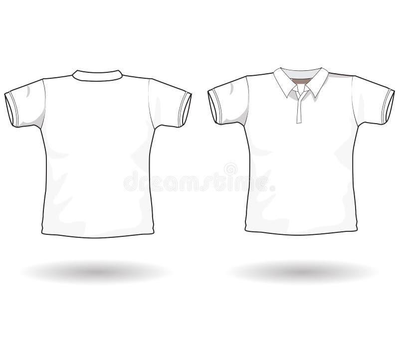 шаблон рубашки поло иллюстрация вектора