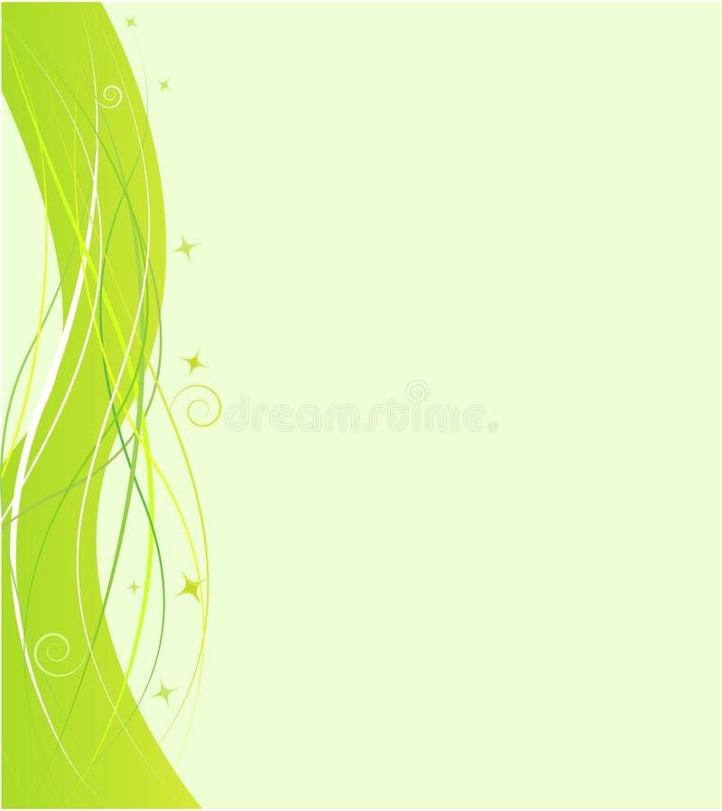 шаблон свирли орнамента конструкции зеленый иллюстрация вектора