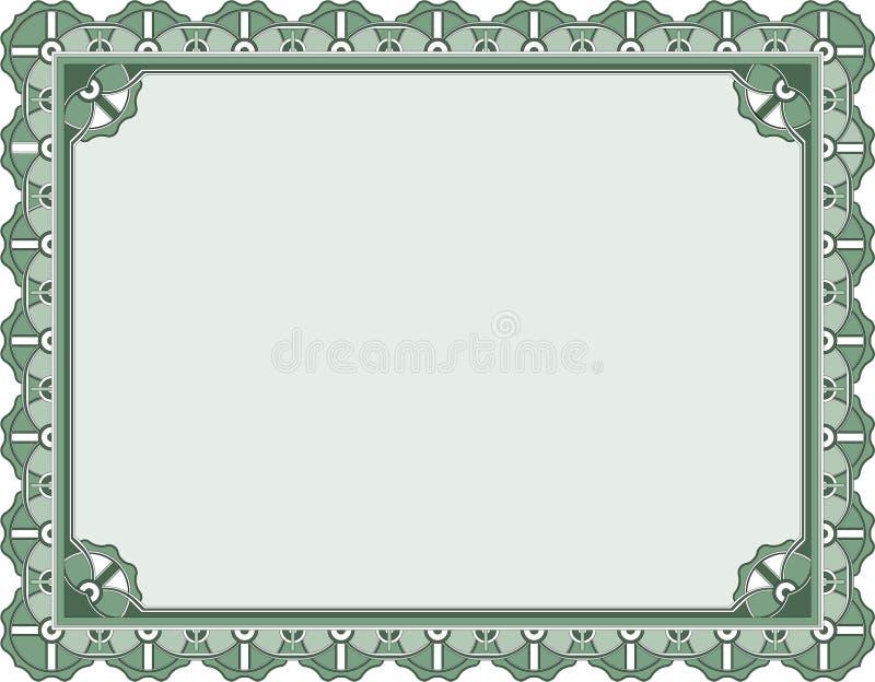 шаблон сертификата пожалования иллюстрация штока