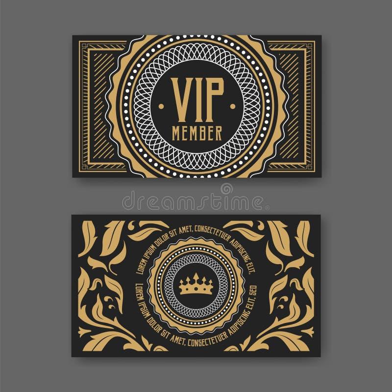 Шаблон сертификата членского билета VIP также вектор иллюстрации притяжки corel бесплатная иллюстрация