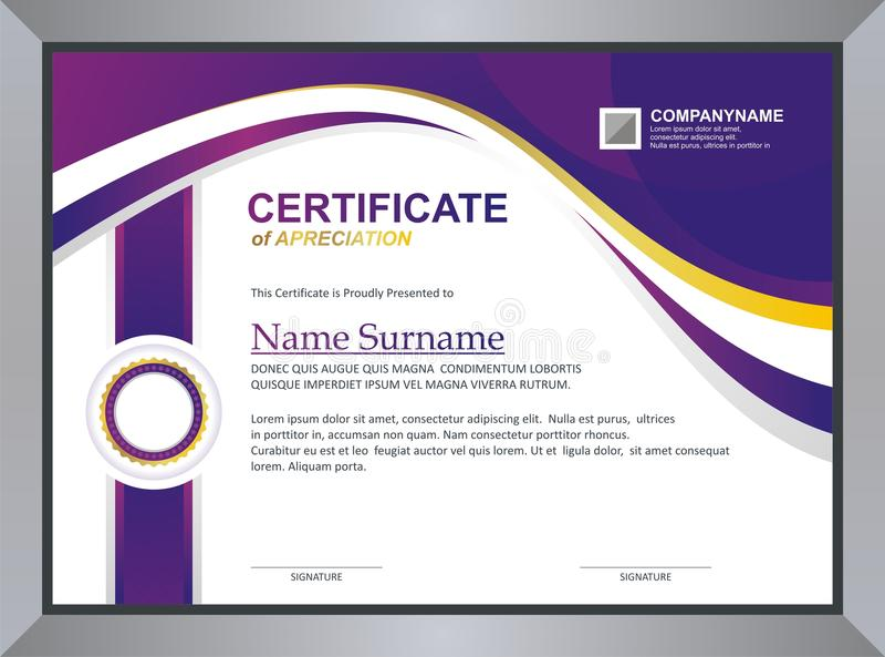 Шаблон сертификата бесплатная иллюстрация