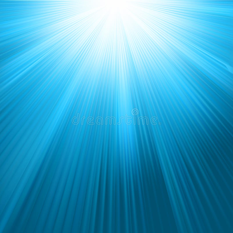 шаблон солнца неба 8 голубой лучей eps иллюстрация вектора