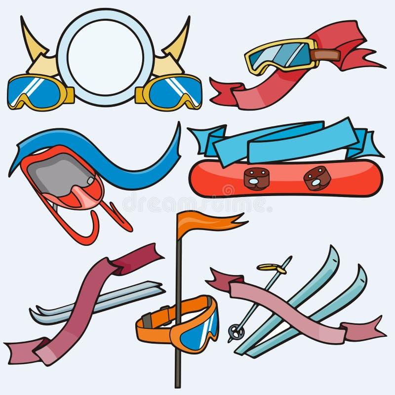 шаблон спорта серии иллюстрация штока