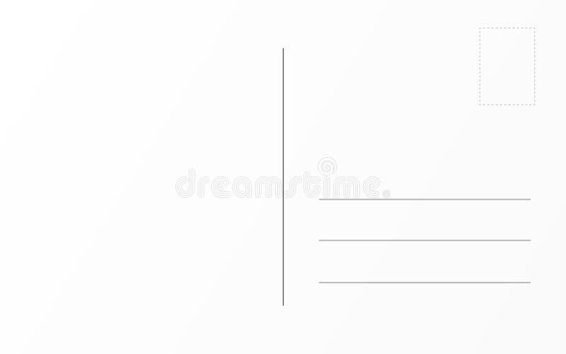 Шаблон старой открытки задний Шаблон дизайна почтовой карты перемещения иллюстрация вектора