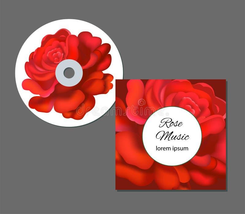 Шаблон стиля дела с яркими фиолетовыми розами Этот флористические предпосылки полезные для представления, визитная карточка бесплатная иллюстрация