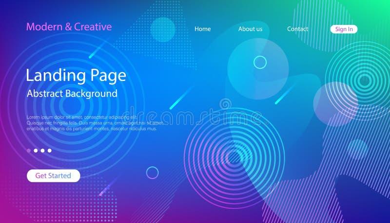Шаблон страницы посадки вебсайта Современный абстрактный дизайн предпосылки иллюстрация вектора