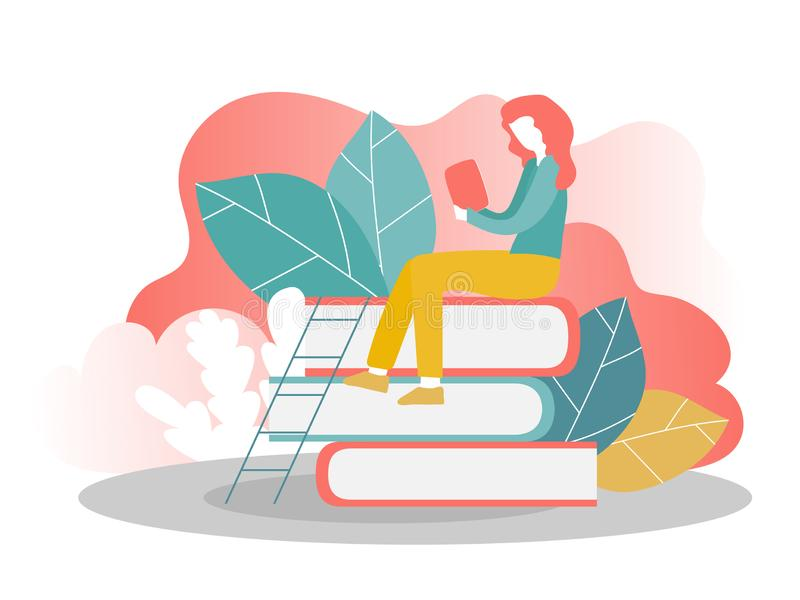 Шаблон страницы посадки онлайн образования Современная плоская идея проекта бесплатная иллюстрация