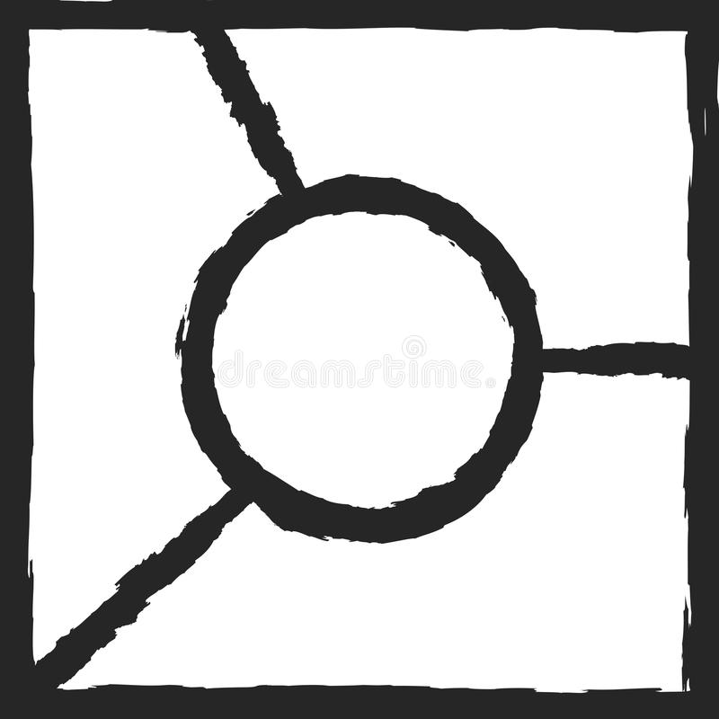 Шаблон с рамками для дизайна коллажа фото Grunge, watercolour, граффити, эскиз иллюстрация вектора