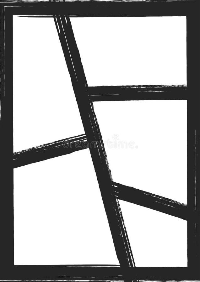 Шаблон с рамками для коллажа фото, дизайна альбома Grunge, watercolour, граффити, эскиз, ход щетки бесплатная иллюстрация