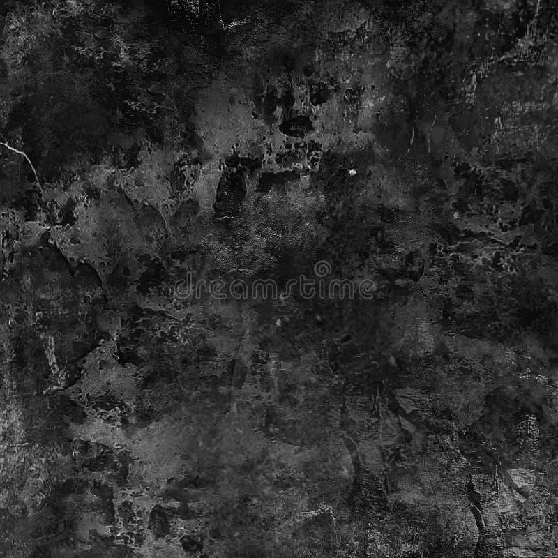 Шаблон текстуры темной черноты Grunge городской Темная грязная предпосылка дистресса верхнего слоя пыли иллюстрация вектора