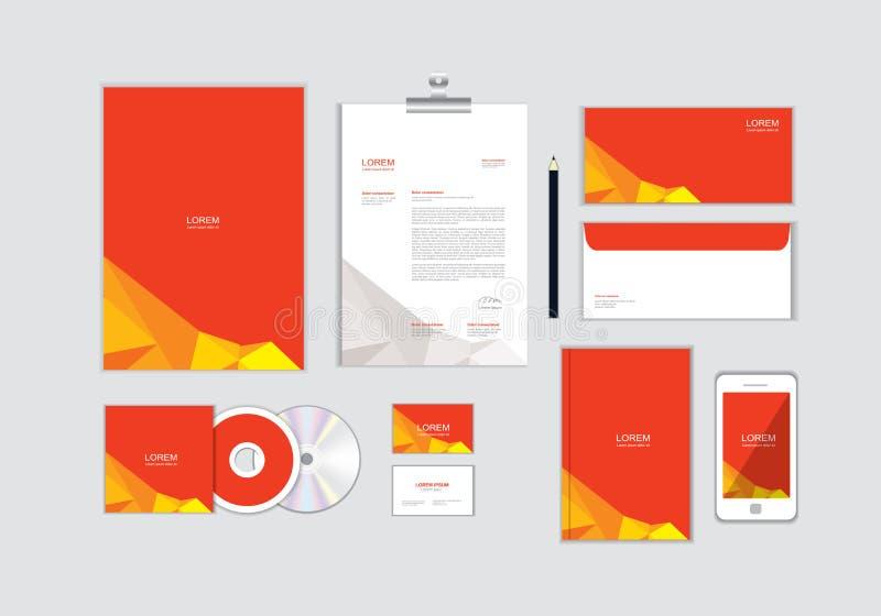 Шаблон фирменного стиля для вашего дела не включает дизайны крышки CD, визитной карточки, папки, конверта и письма главные не 13 иллюстрация штока