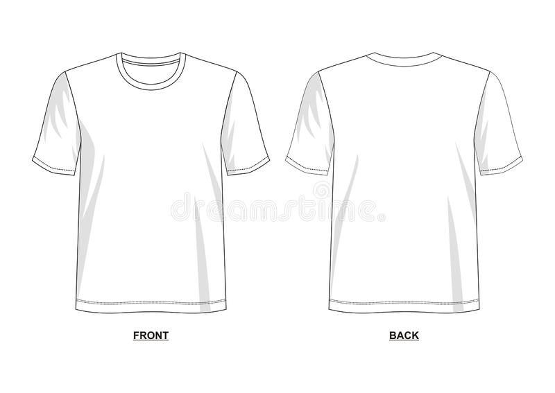 Шаблон футболки вектора дизайна иллюстрация штока