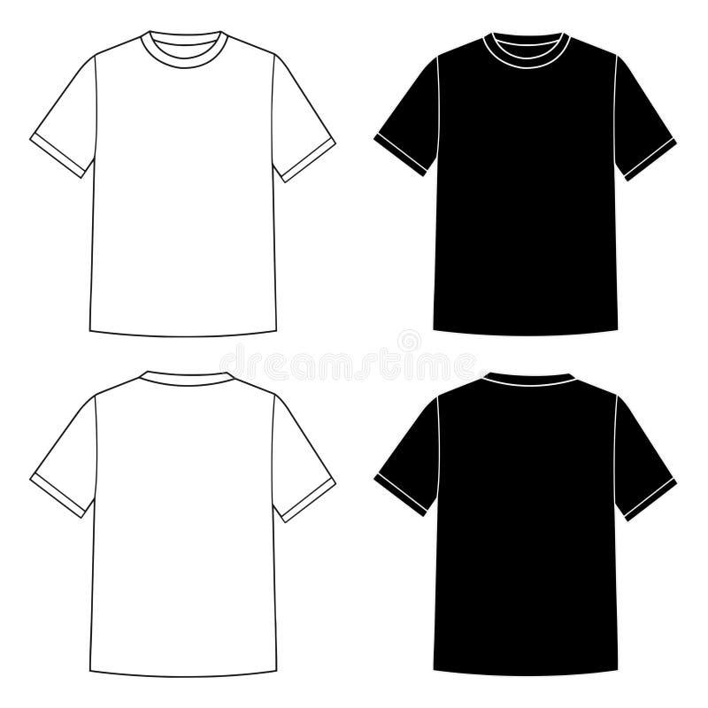Шаблон футболки иллюстрация вектора