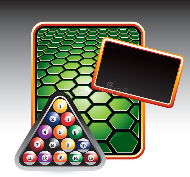 шаблон шестиугольника зеленого цвета биллиарда шариков бесплатная иллюстрация