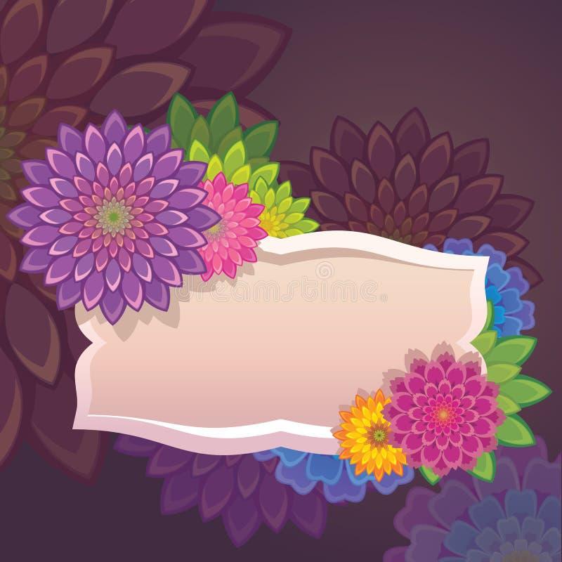 Шаблон ярлыка цветков бесплатная иллюстрация