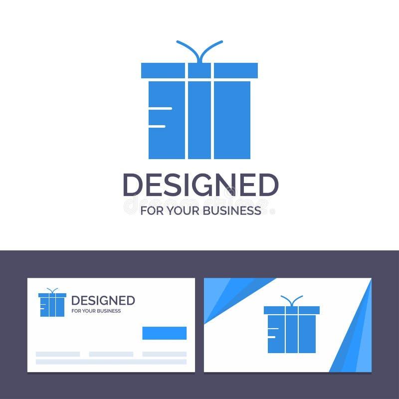 Шаблон Creative Business Card и Logo, Logistic, Gift, Global Vector Illustrator иллюстрация штока