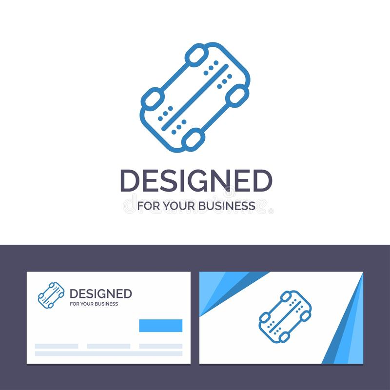 Шаблон Creative Business Card и Logo Skate, Skateboard, Sport Vector Illustrator иллюстрация вектора