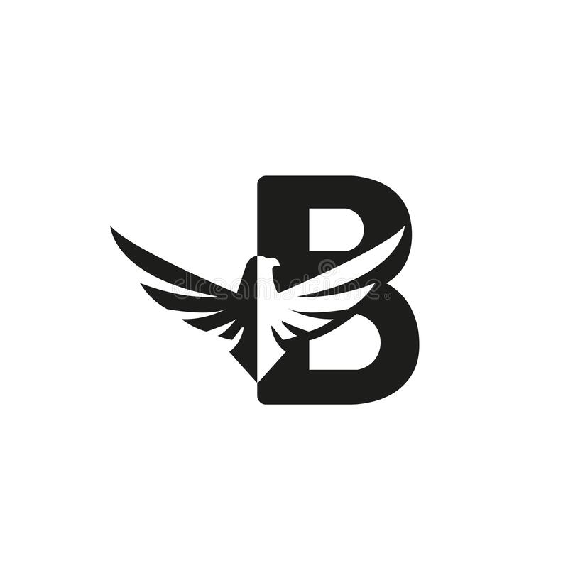 Letter And Eagle Head Vector Image Stock Vector