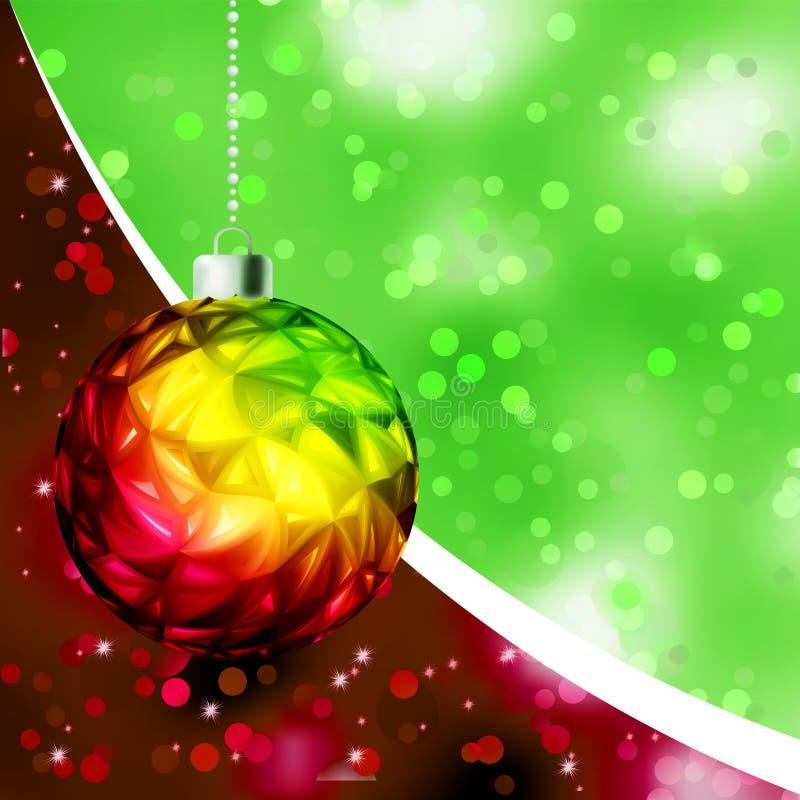 шаблон eps рождества карточки 8 шариков цветастый бесплатная иллюстрация