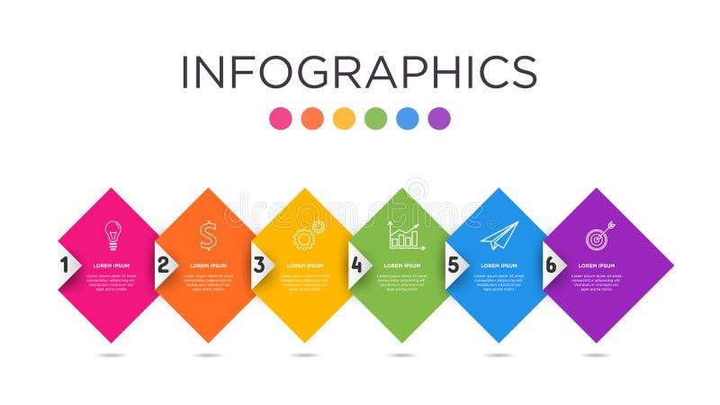 шаблон Infographic ярлыка дела Полно-цвета стоковое изображение