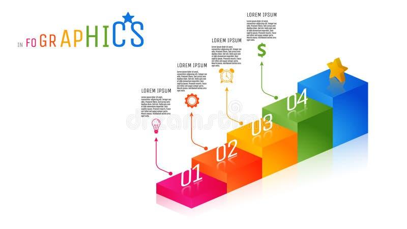 шаблон Infographic ярлыка дела Полно-цвета стоковая фотография