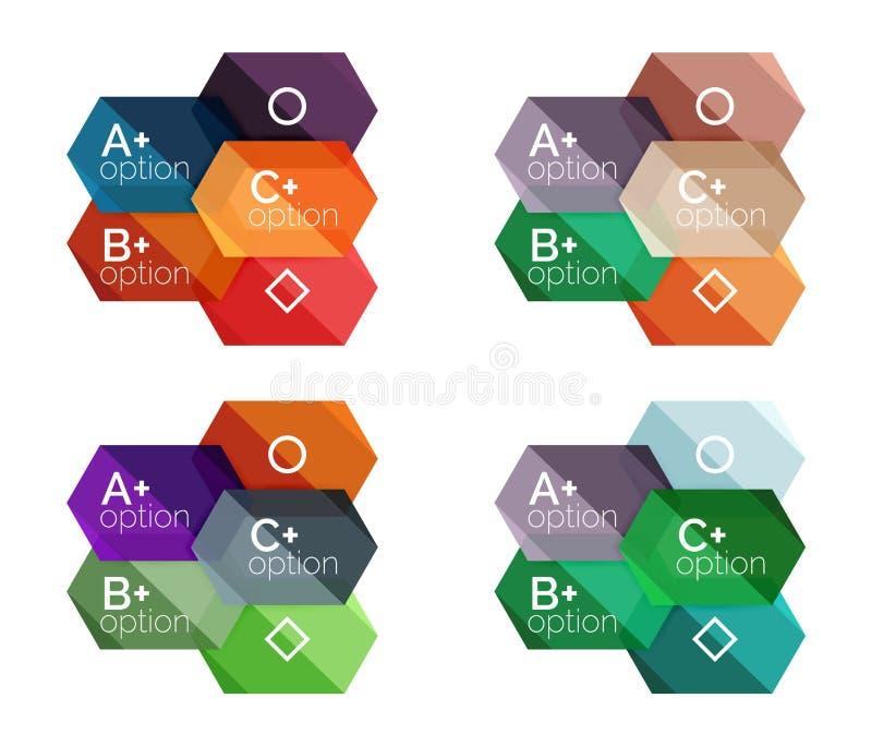 Download Шаблоны варианта Infographic Иллюстрация вектора - иллюстрации насчитывающей художничества, геометрическо: 81805521
