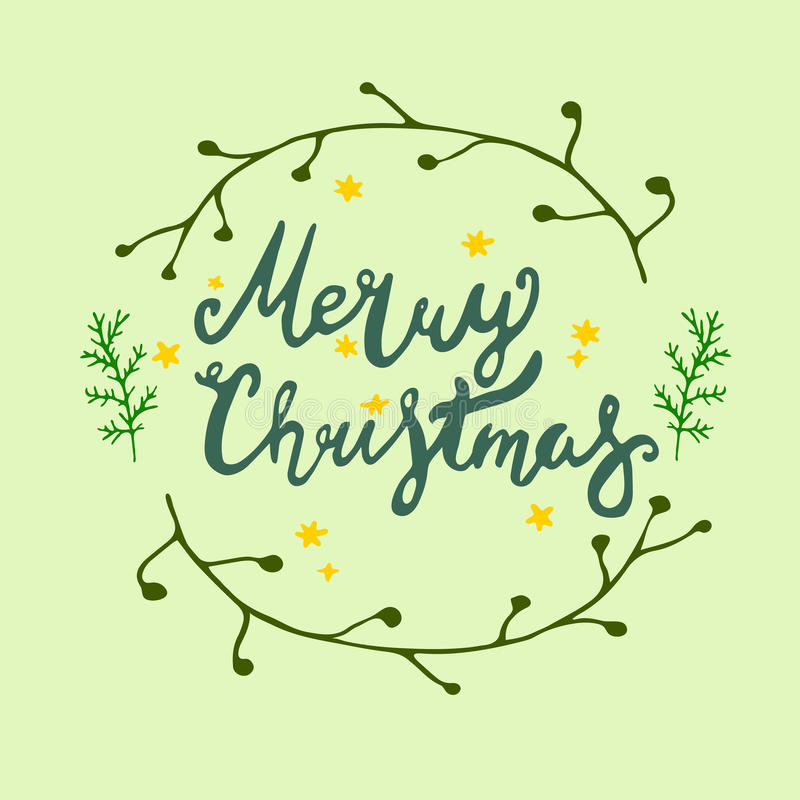Шаблоны вектора рождественской открытки объекты нарисованные рукой на предпосылке стоковые изображения
