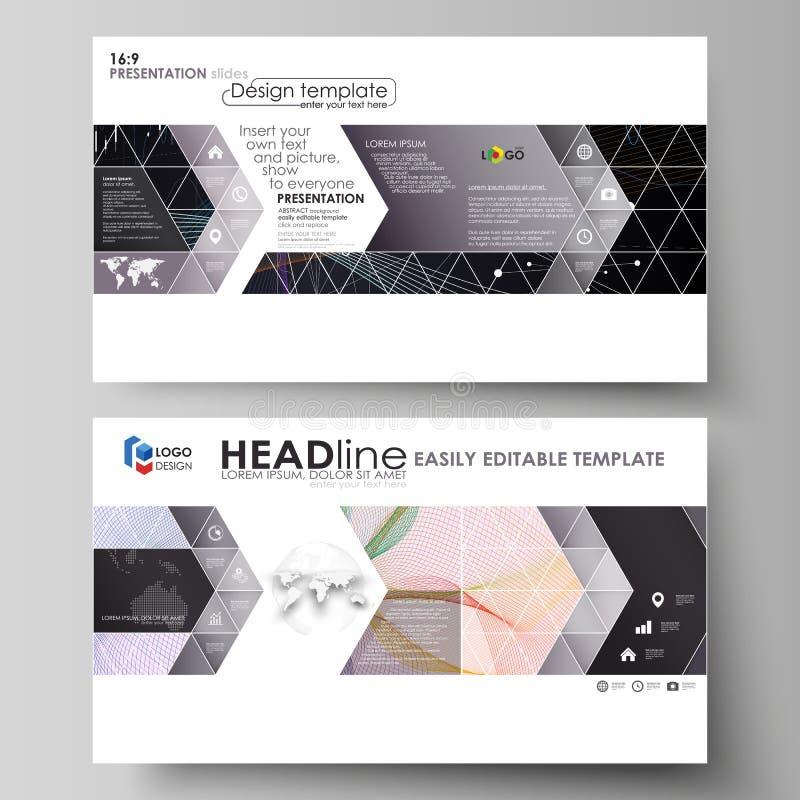Шаблоны дела в формате HD для представления сползают Планы вектора Красочная абстрактная infographic предпосылка внутри иллюстрация штока