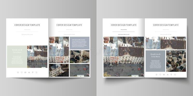 Шаблоны дела для bi складывают брошюру, кассету, рогульку, отчет Покройте шаблон дизайна, абстрактный план вектора в A4 бесплатная иллюстрация