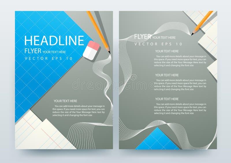 Шаблоны дизайна брошюры рогулек абстрактного вектора современные бесплатная иллюстрация
