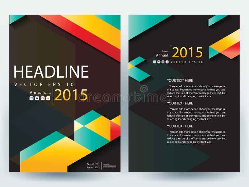 Шаблоны дизайна брошюры рогулек абстрактного вектора современные иллюстрация штока