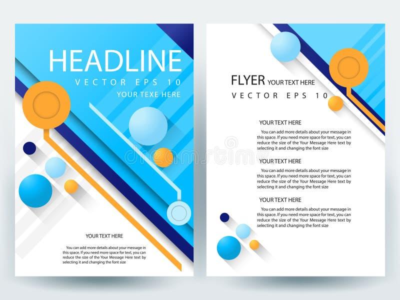 Шаблоны дизайна брошюры рогулек абстрактного вектора современные иллюстрация вектора