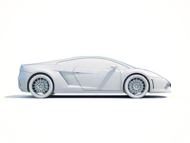 шаблон автомобиля 3d белый пустой иллюстрация штока