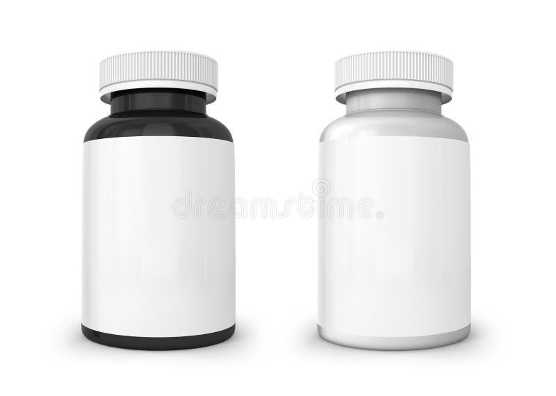Шаблон белой и черной бутылки стоковые изображения