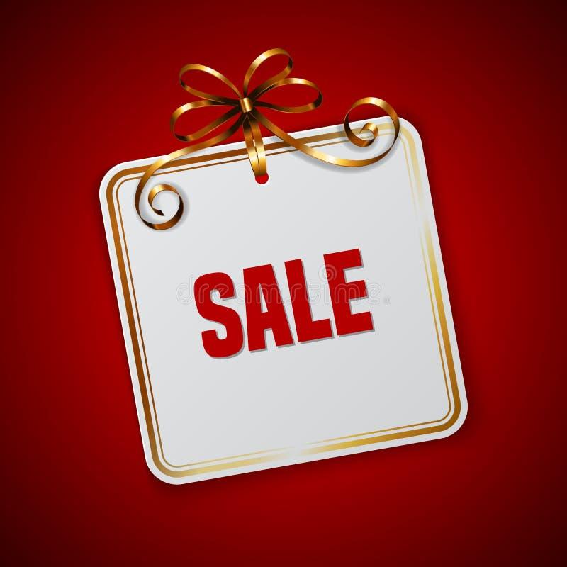 Шаблон бирки продажи бесплатная иллюстрация