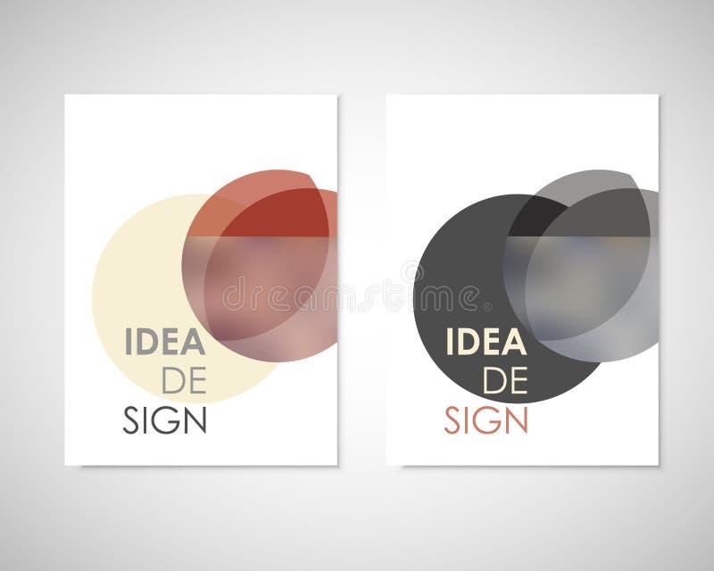 Шаблон брошюры вектора дизайна круглый Картина шарика цвета Конспект для рогульки, книги крышки, годового отчета или ваших идей иллюстрация вектора